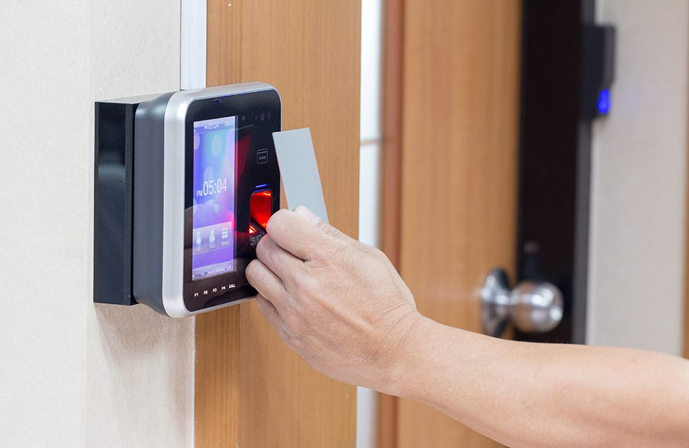 Access control implementation in a corporate site as part of private security surveys support and consultancy