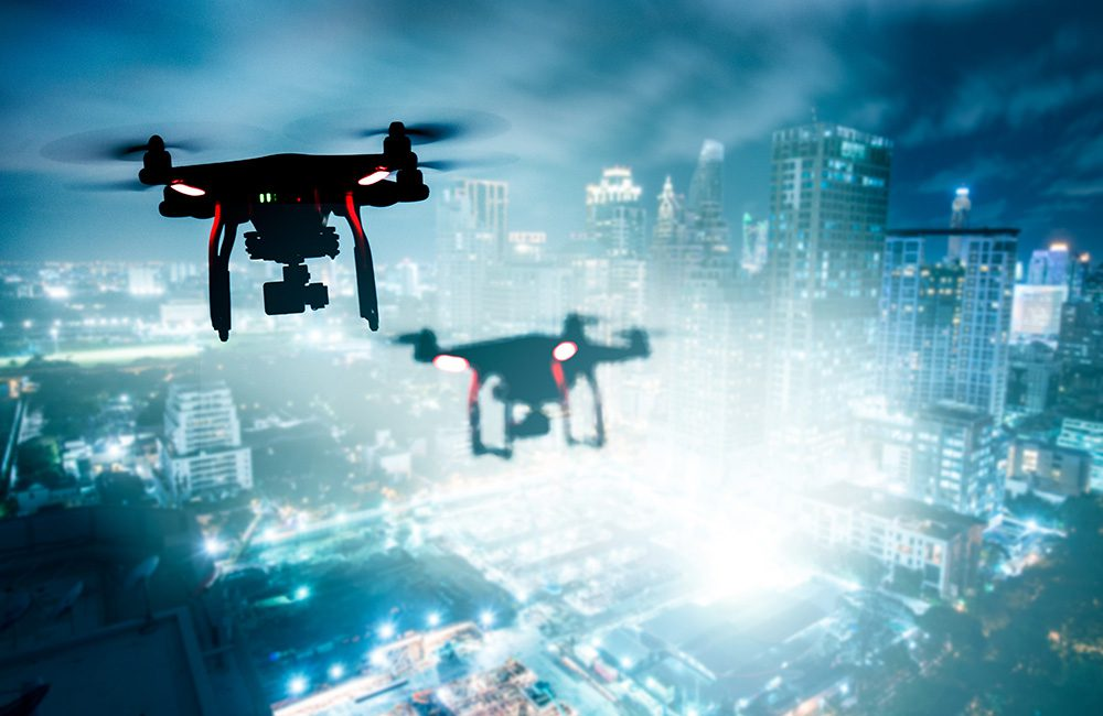 Drones being used by a private spy as part of internal espionage case
