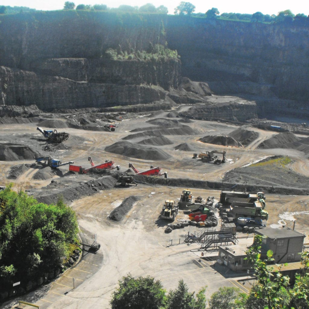 A quarry protected by private investigators in the UK, EV Investigations