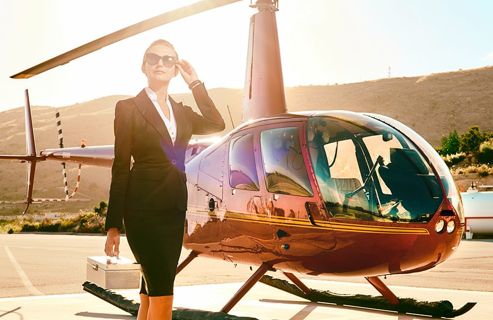 Billionaire high net worth businessperson protected from bugs with bug sweeping and technical surveillance counter measures (TSCM) for helicopters and planes