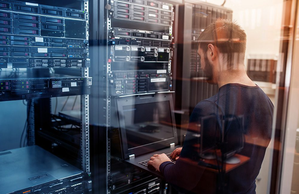 Bug sweeping in a corporate data centre network room with technical surveillance counter measures (TSCM)